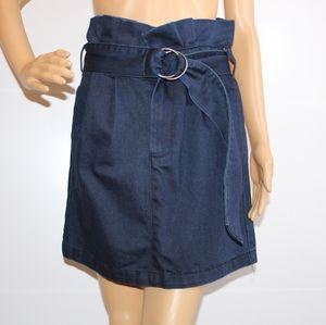Hailee C by Anthropology Denim Jean Paperbag Skirt